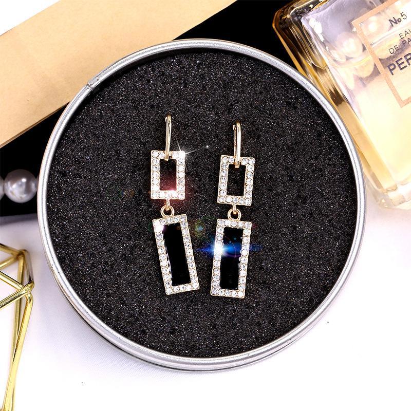 Горячие украшения мода простые прохладные ветровые серьги серьги с алмазными серьгами женщин S925 серебряные серебряные серебряные серебряные