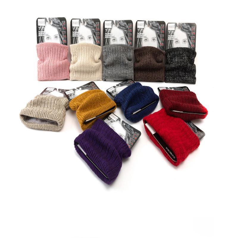 Invierno caliente unisex de la cachemira caliente del anillo de la bufanda de los hombres de punto grueso bufandas de lana otoño Mujer Piel Señora del anillo del cuello de la felpa de la bufanda de cuello