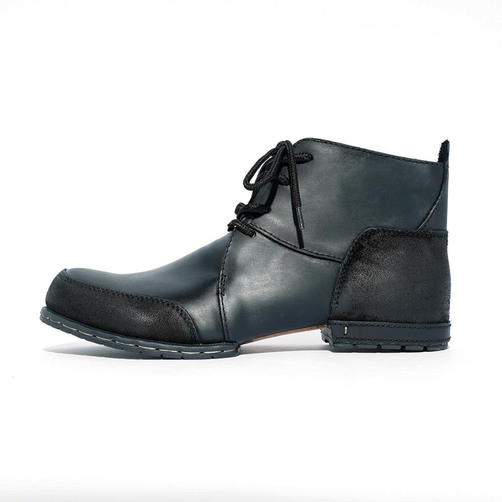 2021 Bottes de rivette hiver fabriquées à la main de qualité supérieure avec cuir de vachette authentique de chaussures à la mode pour hommes Free 1xwd