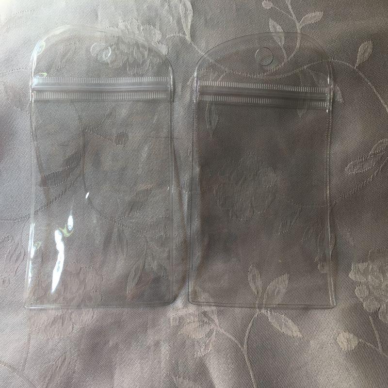 15,5 * 8 centímetros Waterproof Zipper plástico Retail pacote de saco de embalagem embalagem macia para cabo de bateria USB Samsung Galaxy jovem S5360 pele caso