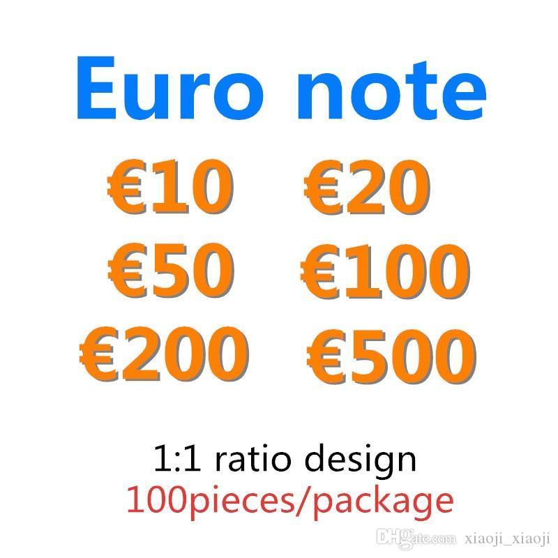 Prop Cypy 04 50 Bambini 20 Faux Festive 10 Billet Money Regali 200 500 Euro Fake Party Games Toy Money Collections 100 Token MRURO