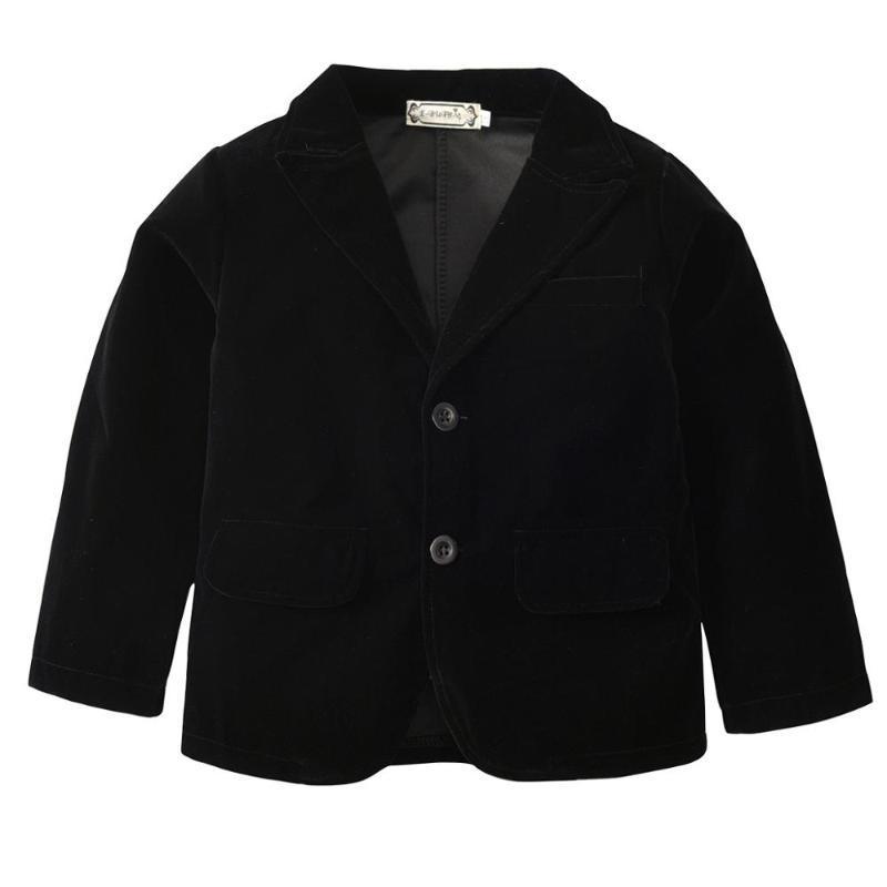 Dziecko maluch dzieci zamszowe kurtka chłopiec top ubrania wiosna i jesień formalny płaszcz solidny kolor pojedyncze breaded wierzchniej płaszcze