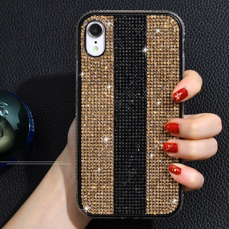 Pour iPhone 12 11 pro max 7plus 8p téléphone cellulaire diamant inspiré la création de mode XR cas Xs Max anti-chute cas de téléphone de concepteur de protection