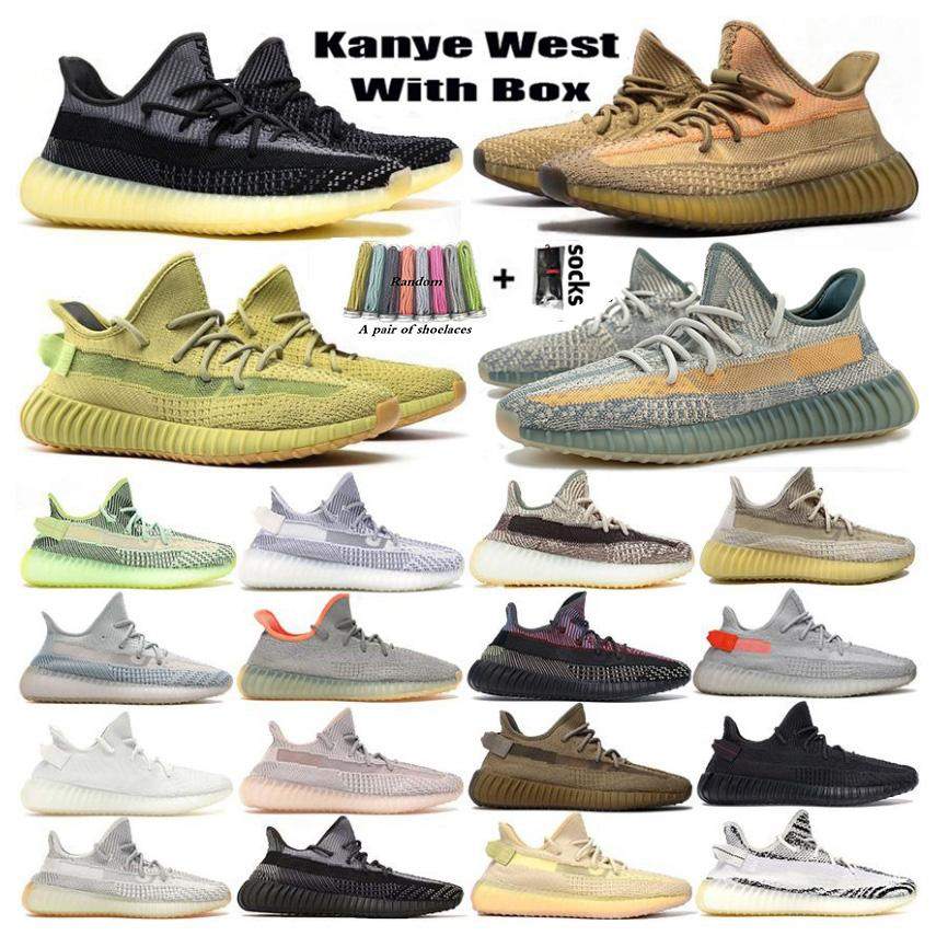 2020 yeezy boost 350 v2 yeezys 신발 kanye 운동화 크기 us 13 kanye firm promotion new women mens trainers Asriel Eliada Israfil Cinder Tail Light Zebra Sneakers Sports Sneakers Shoes