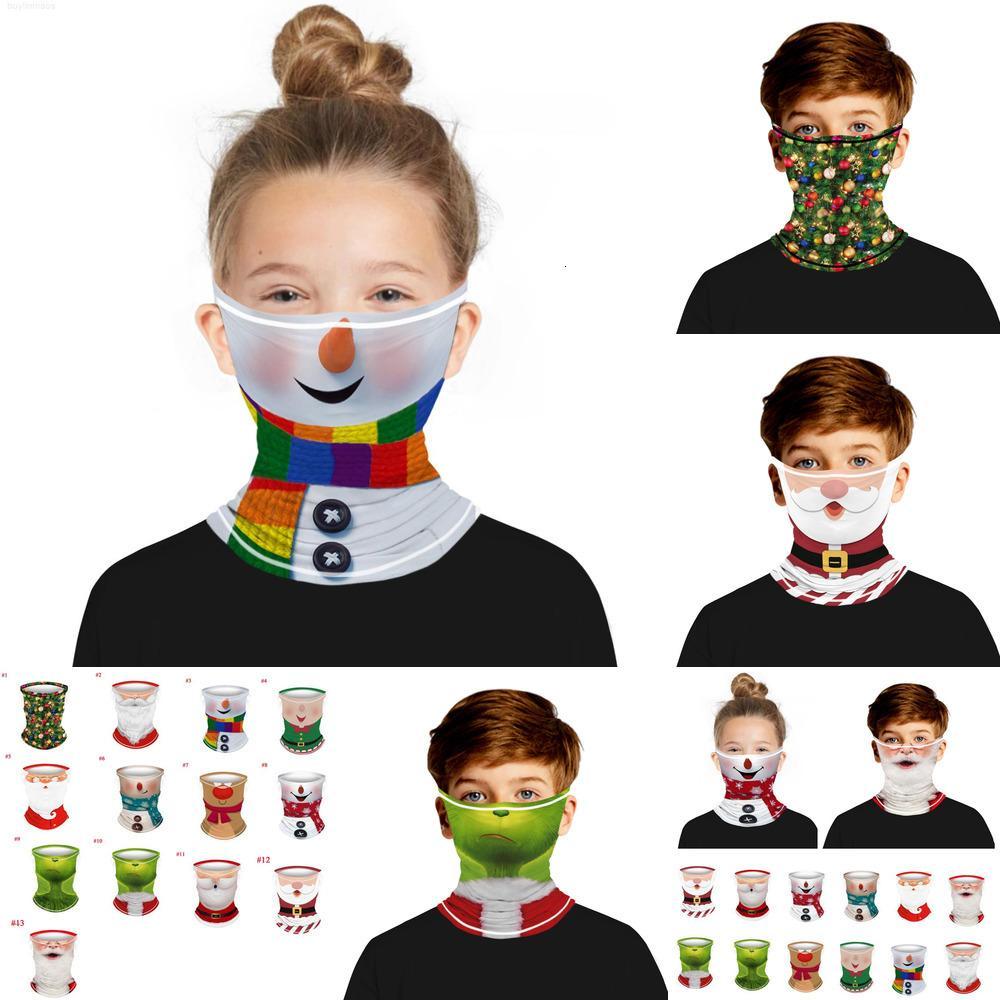 Çocuklar Yüz Maskesi Kafa Bandı Bandı Çocuklar Için Atkısı Sihirli Chirstmas Bisiklet Eşarp Açık Spor Bandana Şapkalar Headscarf Padx1