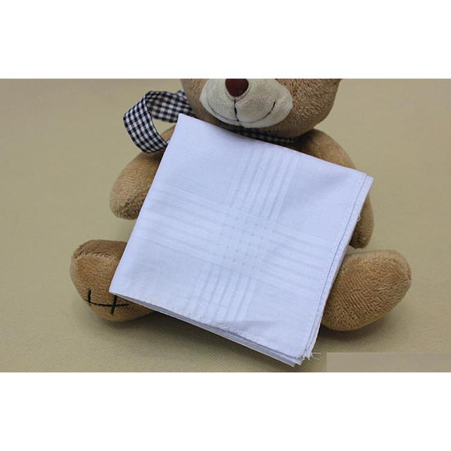 100% algodón pañuelo de alta calidad 38 cm hombres cuadrado pañuelo completo hombres blanco hanky bolsillo cuadrados C184 IFCAJ