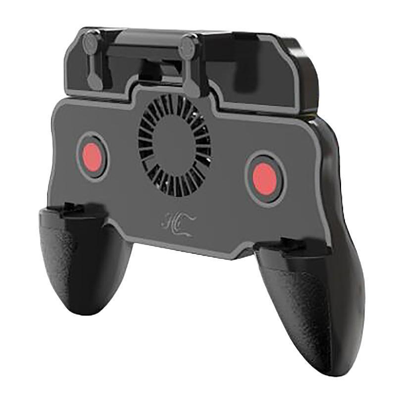 pour le mode automatique de contrôleur PUBG jeu mobile Trigger joystick Bouton feu avec ventilateur de refroidissement L1 R1 Objectif Gamepad à distance Grip