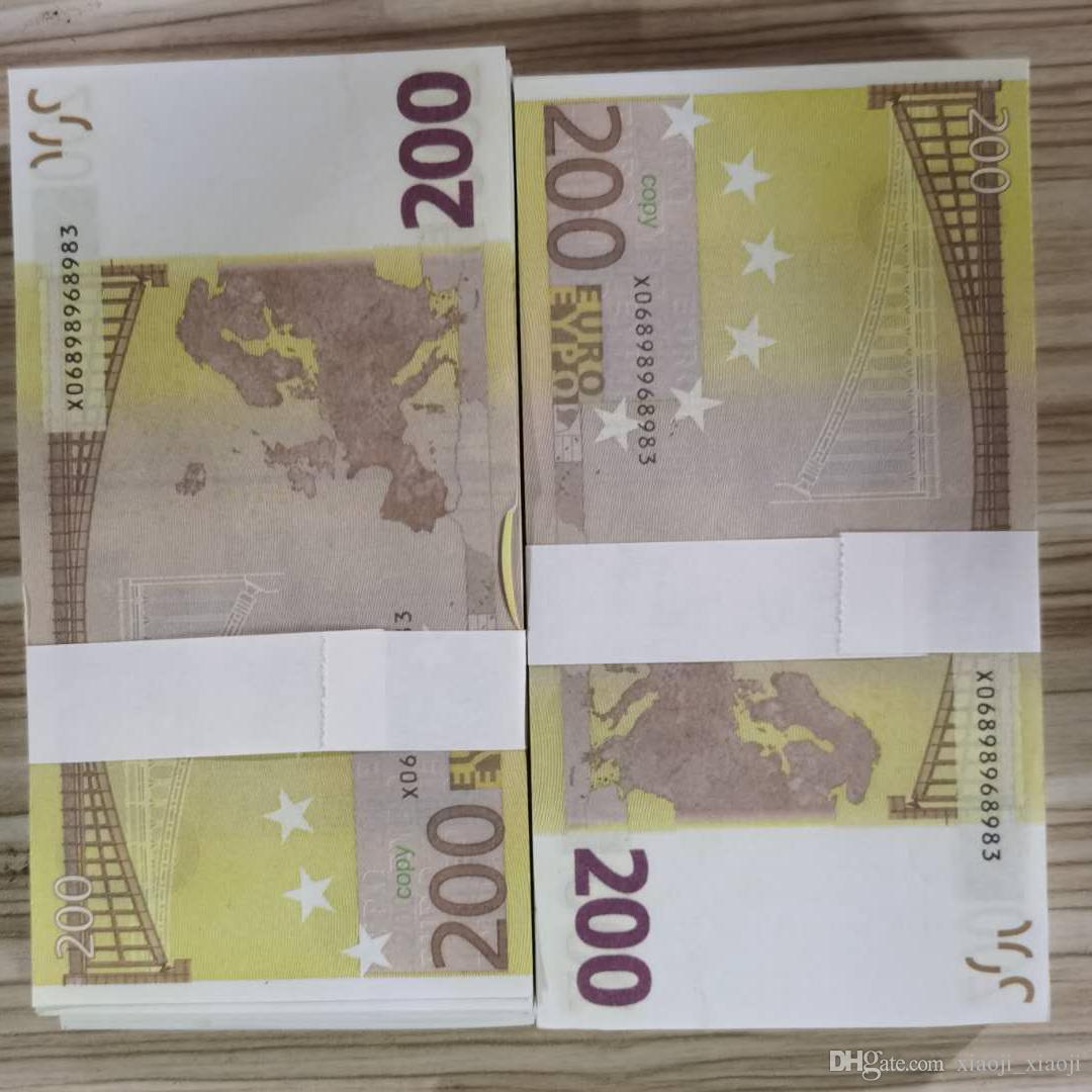 Euros Estimulação 100 pcs / Pack 200 A maioria dos EUA copiou crianças brinquedo ou dinheiro coleta de papel PROP NICKNOTE PARA FAMÍLIA 02 JOGAR VOET