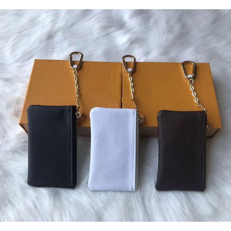الحقيبة الجلدية مفتاح 5 اللون يحمل عملة وحاملات أزياء المرأة الكلاسيكية حامل مفتاح عملة محفظة جلدية صغيرة مفتاح محافظ A2
