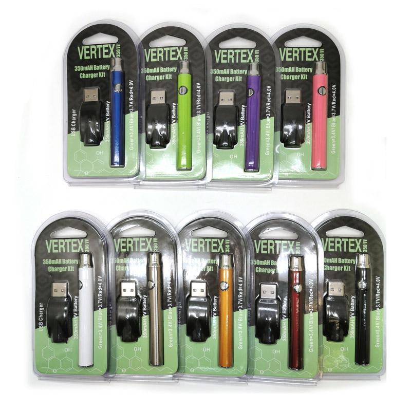 Vertex Co2 VV Preheat Battery Kits LO Battery Co2 Oil Vaporizer O Pen 510 Vape Pen Preheating Batteries 350mah BOGO Ce3 Cartridge DHL free