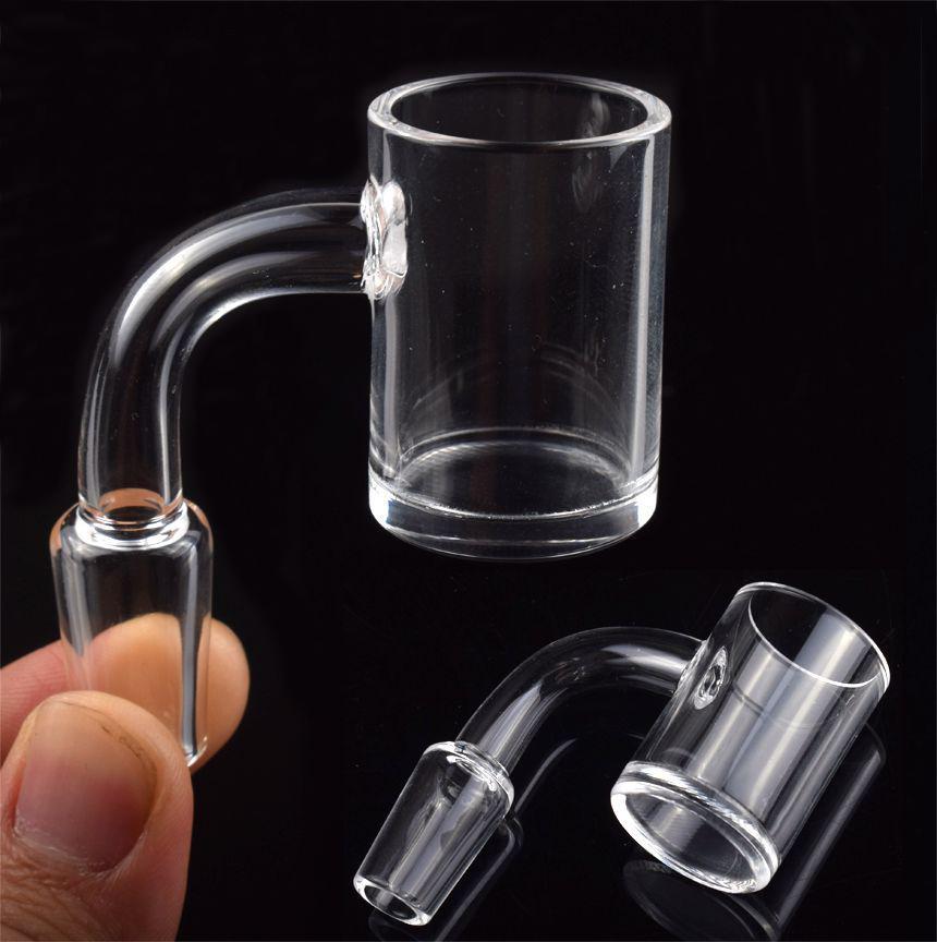 Fumer 4 mm de quartz de quartz BANGER 25mm xl ongle de 10mm 14mm 18mm mâle femelle 90 45 degrés ongles sans intérieurs pour plate-forme DAB Bong