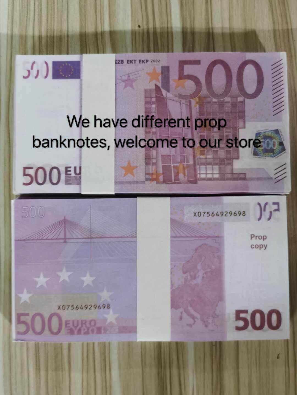 Collection Euros NightClub Realistic PROP ARGENT PLUS ARGENT MOYENCE COPE COPE Banque Remarque Jouer à Fake Paper Business pour 125 500 Prurr