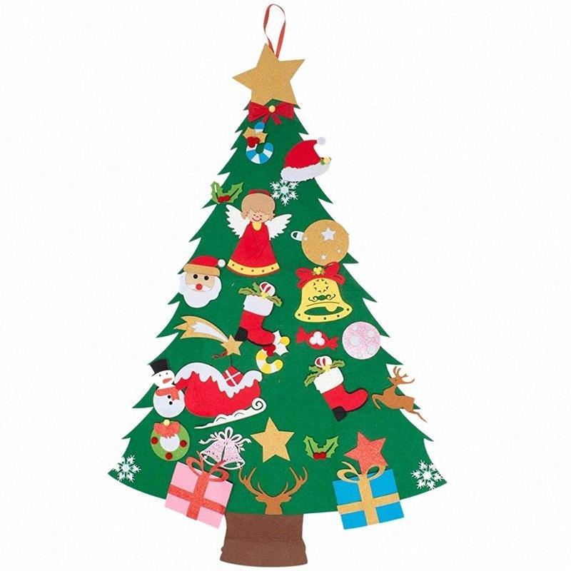 Beau-kelt Noel ağacı 45.6 inç 3D DIY Set ile 29 Adet Süs Dekor Duvar Asılı Noel Ağacı Süslemeleri Çocuk Hediye Y92B #