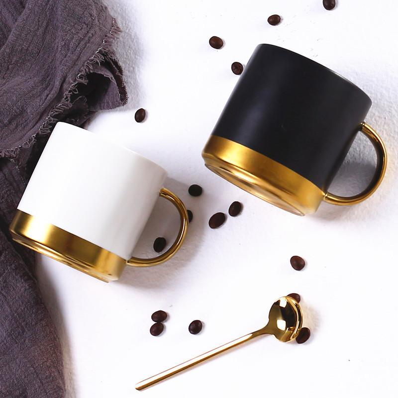 caneca de cerâmica preta Nordic café para bebidas quentes e frias muito casal presente do negócio de escritório de pequeno-almoço copo para o amigo