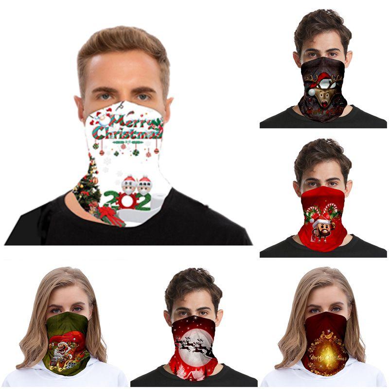 Chirstmas Face Shield Бандана Face Открытый Спорт Магия платке Повязка Козырек шеи Gaiter Новогоднее украшение маска Подарки партия