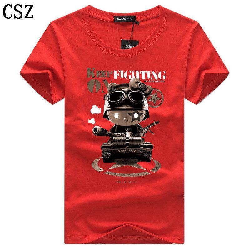 Men's T-Shirts Casual O-Neck Short Sleeves Print Funny T Shirts Men Summer Fashion Brand Tee Shirt Homme Tops Size 5XL C-7