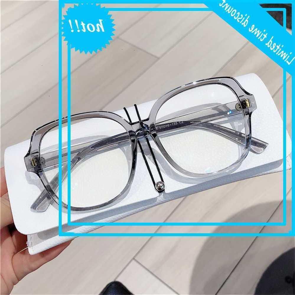 Şeffaf gözlük kadın net kırmızı maske büyük yüz kısa görüşlü anti mavi ışık ile donatılmış olabilir tr siyah çerçeve gözlükleri