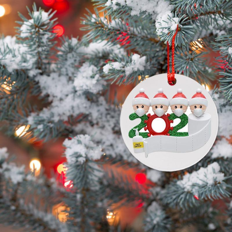 Wearing Merry Christmas Tree Decoration For Home Santa A Mask 2020 Christmas Ornaments Navidad Xmas Gifts Happy New Year 2021 bbyTmG
