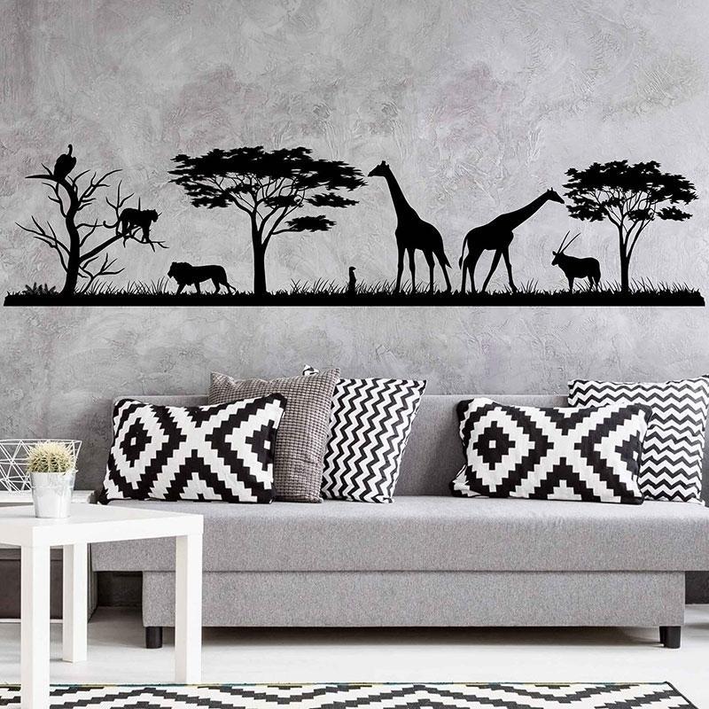 African Safari Wall Decal Jungle Adesivi per vinile Decalcomanie Decorazioni per la casa Ambientazione interna Parete di Vinile Decalcomania Decalcomania Decor Decor Decorazione 3117 201202