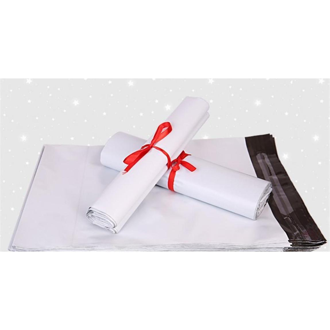 45 * 55 cm Beyaz Kendi Kendini Mühür Posta Çantası Plastik Zarf Kurye Posta SQCXNT HOMES2007