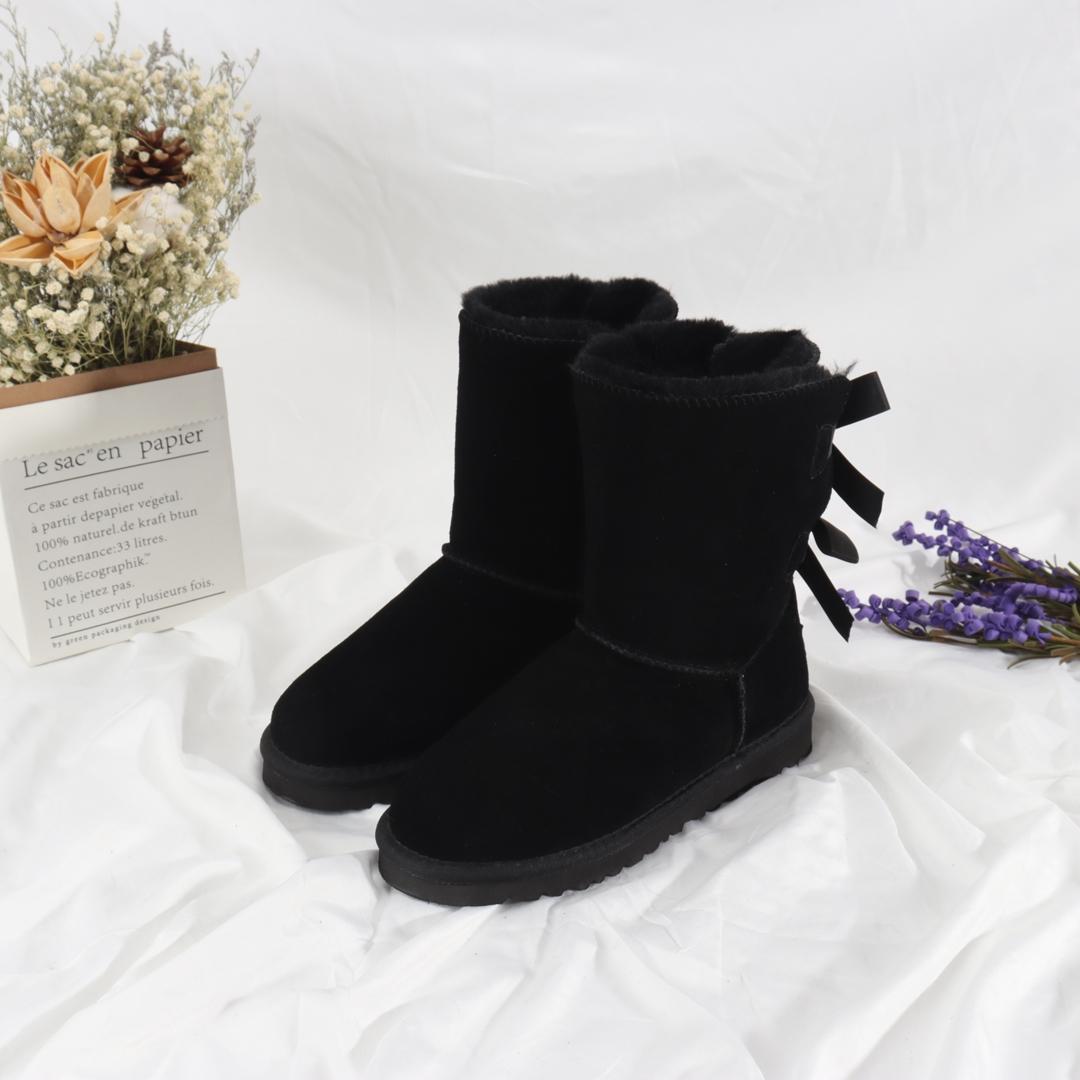 Vendita calda-inverno stivali di alta qualità stivali di altissima fiocco stivali da neve uomini in pelle impermeabile all'aperto scarpe da trekking per il tempo libero caviglia stivaletti # 666