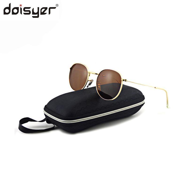 Модные унисекс и круглые солнцезащитные очки поляризованные линзы Daisayer для мужчин Светоотражающие женщины IXIMK