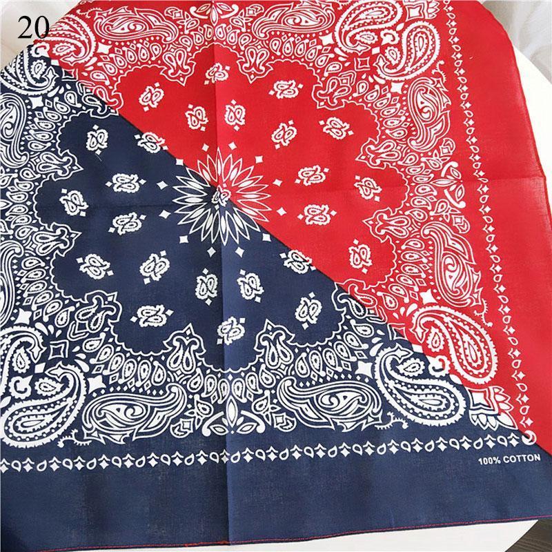 Female Cotton Square Scarf Women Square Hip Hop Hairband Hair Scarf Bandana Paisley Headband Printed Neckerchief Hand Kerchief Q bbyntp