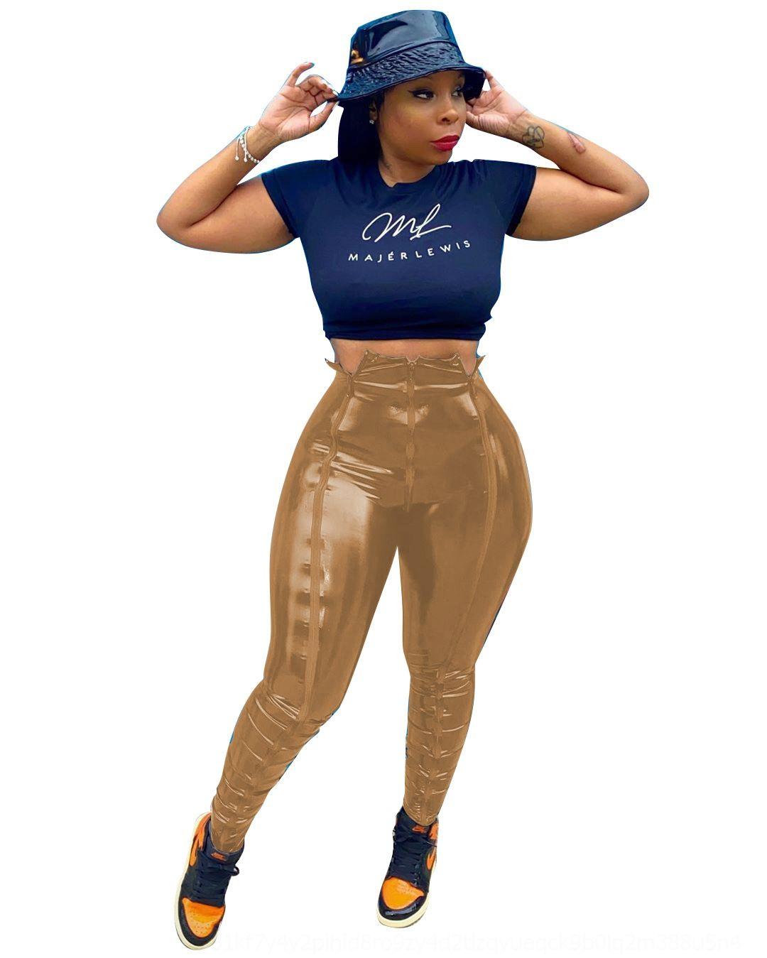 Qxry Weeeep Sweatpants 2018 Yüksek Bel Yan Kalem Pantolon Rahat Streetwear Kadın Bayan Pantolon Ekose Pantolon Checkerboard