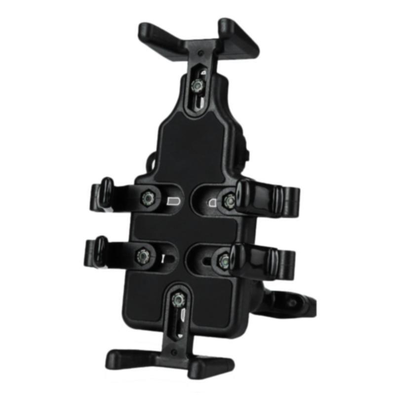 TOP! -Iniversal cabine moto nero caricatore USB supporto per cellulare Staffa di navigazione per moto Staffa
