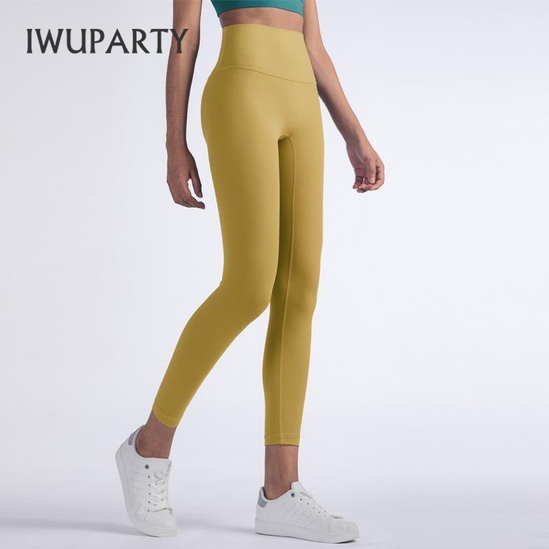 Iwuparty Pantaloni da yoga a vita alta Iwuparty Scrunch Sport Leggings con tasche Nylon Tights Tights Donna Gym Abbigliamento Sport Fitness1