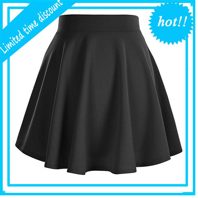 Women Basic Multilateral Stretchy Flared Casual Mini Skater Sequin Wine Red Short Rok