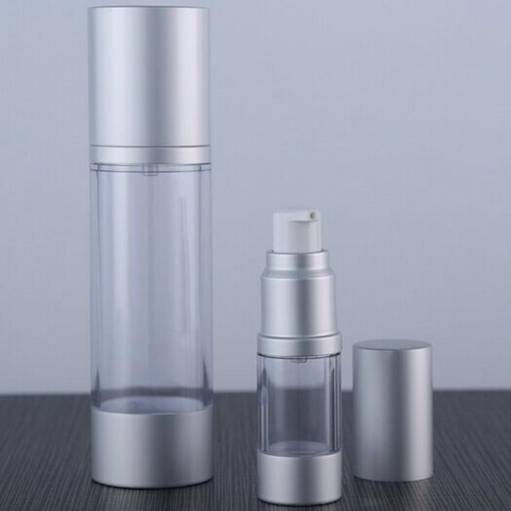 6PS / серии термоса Empty 30мл / 50мл с серебристым металлом косметического молочка безвоздушного насос для печати собственного логотипа