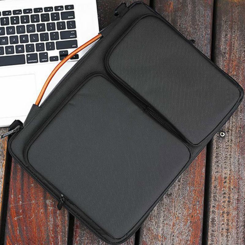 Mens Briefcase Maletin Hombre Office Messenger Bags for Macbook 13 14 15 15.6 Inch Laptop Business Waterproof Shoulder Bag Q0112