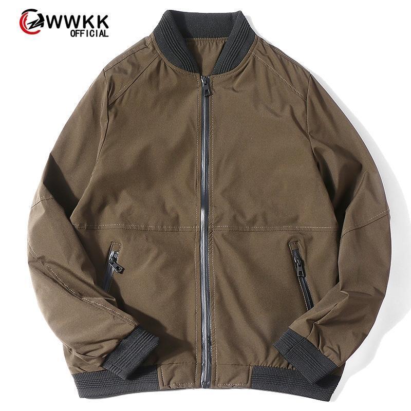 2020 Männer Bomberjacke dünne dünne lange Hülsen-Baseball-Jacken Windjacke Zipper Windjacke Männer Outwear-Marken-Kleidung