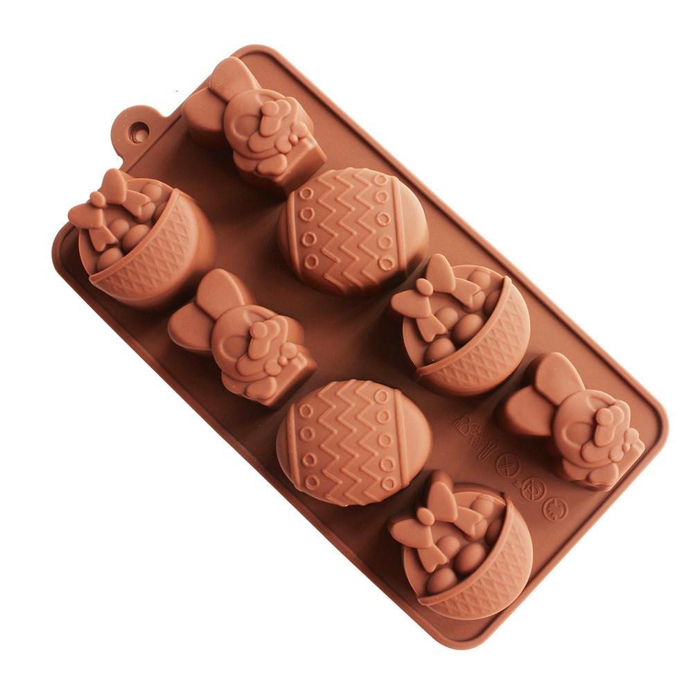 Silikon Die Kek DIY Kalıp Yumurta Paskalya Bunny Küp Çikolata Kalıp Sepet Şekli Buz Rnfjw