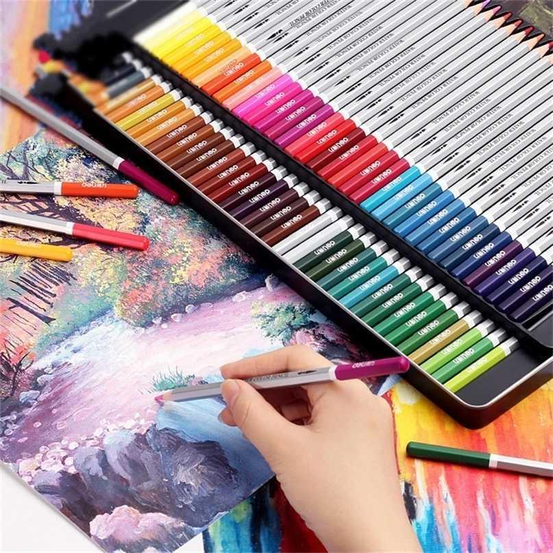 Deli Suluboya Kalem Mavi Renkler Crayon Aracı Lapis Lazuli De Prismacolor Boyama Doldurma Renk Kalem Boyama 201223