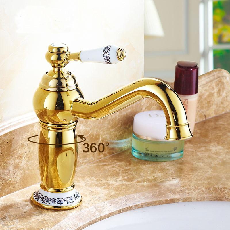 Bathroom Sink Faucets Retro Magic Lamp Style Basin Faucet And Cold, Antique Brass Wash Mixer Water Tap Vintage 4 Colors