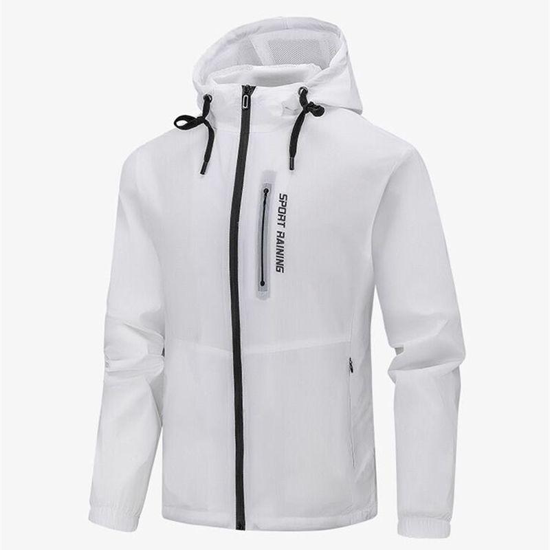 Homens moda moda jaqueta casaco com zíper jaqueta homens roupas streetwear outwear windbreaker 201118