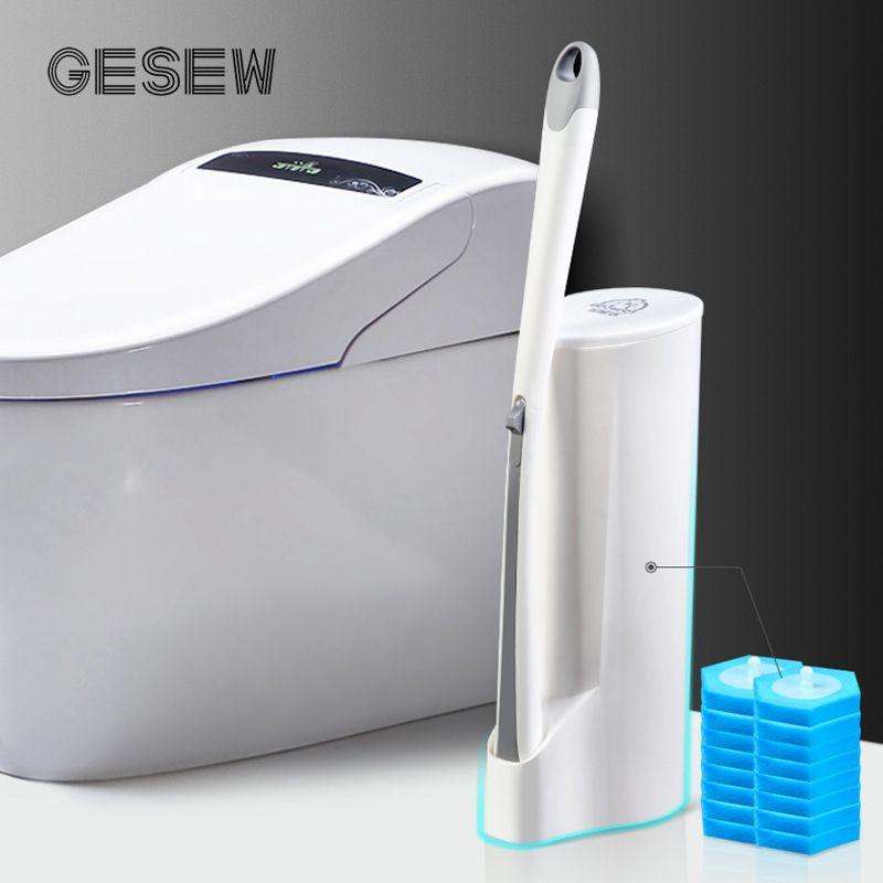 GESEW Одноразовый туалетная щетка стерилизующая ткань Все аспекты без мертвого угла уборка комплект для чистки туалетной кисти для чистки инструмента для ванной комнаты LJ201130