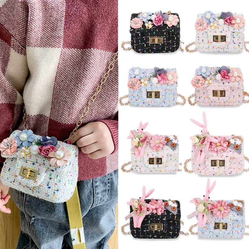 Fleur Mini Sac à main Perle Cute Crossbody Sacs pour Filles Changer de bébé Porte-monnaie Enfants Petite sac à main pour enfants1 VRBJS