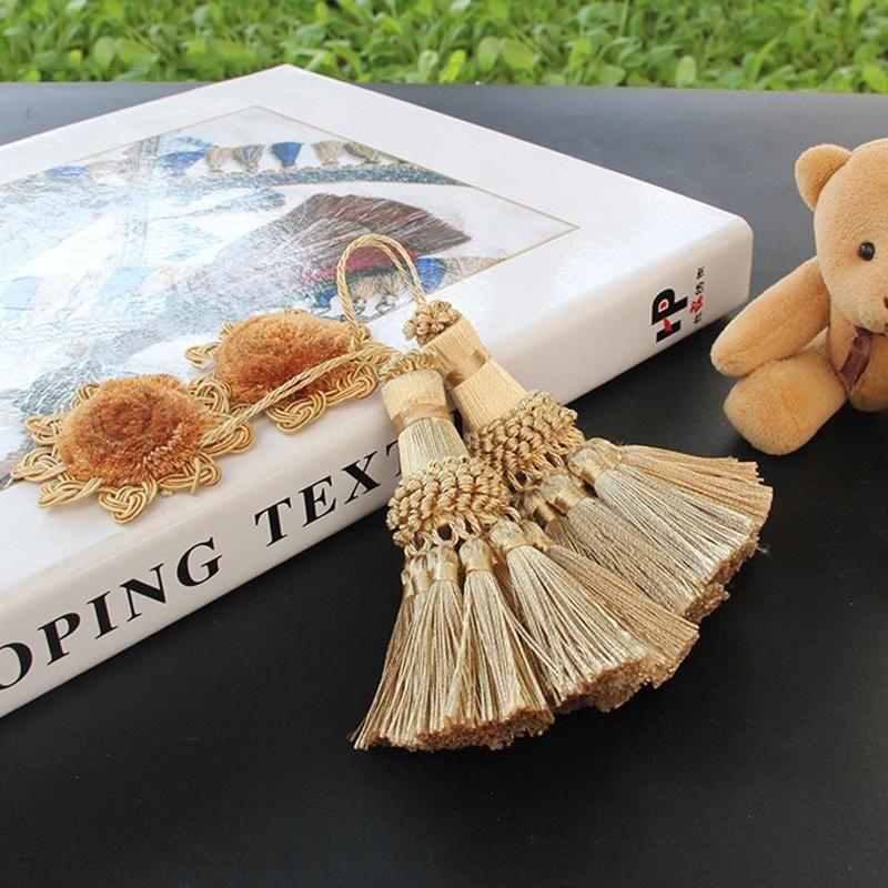 2 pacote cortina borla pendurado bola logo acessórios pequenos borla diy home decoração cortina artesanato cega acessórios de casamento h jlldcr