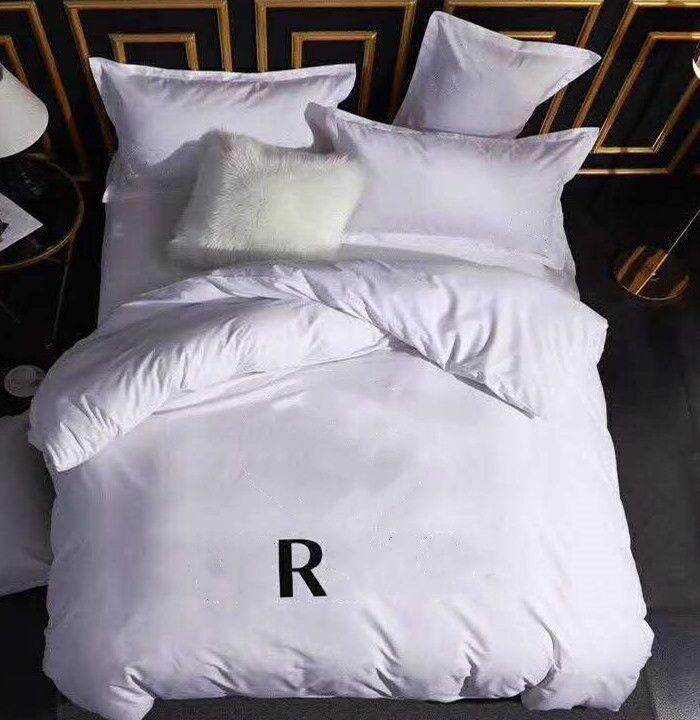 Ensembles de literie en coton Set de couverture de courtepointe Jacquard Queen size, y compris 2 boîtiers d'oreiller Housse de couette de couette de couette