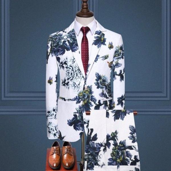 Menne Herren Anzug Frühjahr Anzug Gentleman Business-koreanische Version der tailorsuit Hose zweiteilige Set VJcY #