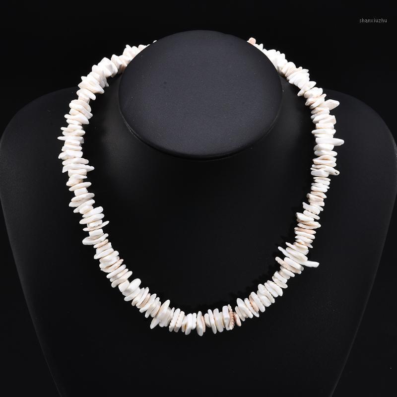 Chokers Fashion Natural White Conch Clam Chips Puka Shell Necklace Collar Choker For Women Men Collares De Moda 2021 Sell Kolye1