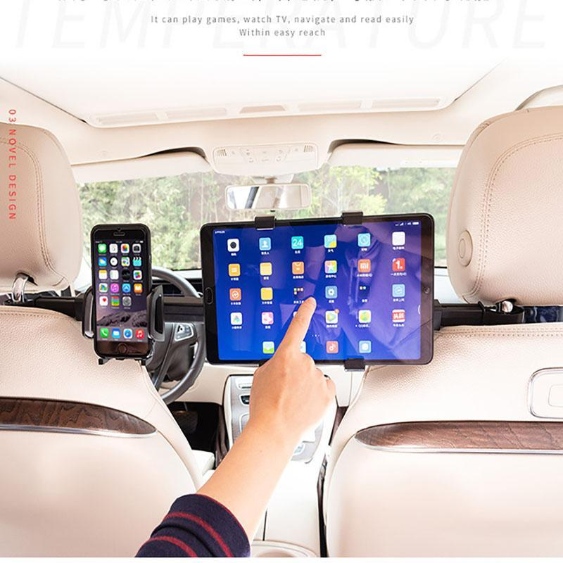 360 градусов Автомобильный Tablet PC Phone Holder Универсальный 2-в-1 заднего сиденья подголовник Монтажный кронштейн IPad Tablet PC Phone Holder