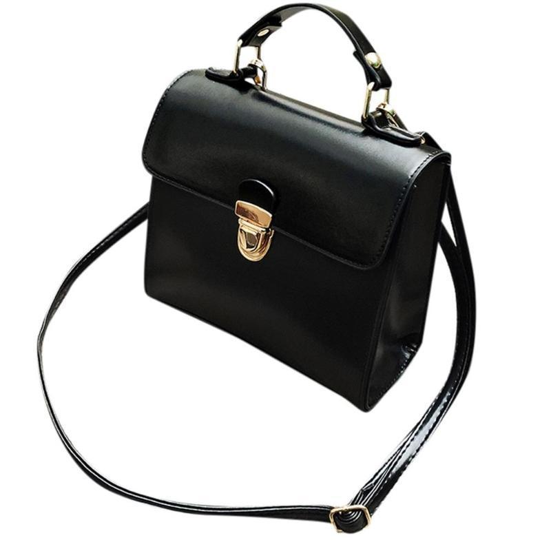 Borsa da donna Borsa in pelle Retro Oley Top Portable Briefcase PU Bolsa Maniglia Borsa Glossy Crossbody Tote Fashion Feminina ftdrx