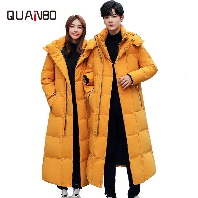 2020 Nuovi uomini Amanti Wommen Amanti Inverno Down Piumino di Alta Qualità Lungo Costuto Cappotto caldo Fashion Trens Red Yellow Black Youth Parkas 4XL