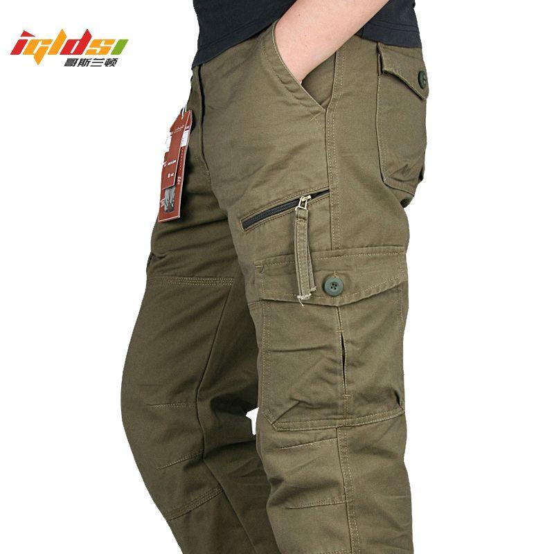 2020 nouveaux hommes Cargo Pantalons multi poches Pantalons tactique militaire hommes Outwear Streetwear Armée droites Casual Pantalons Slacks LJ201007