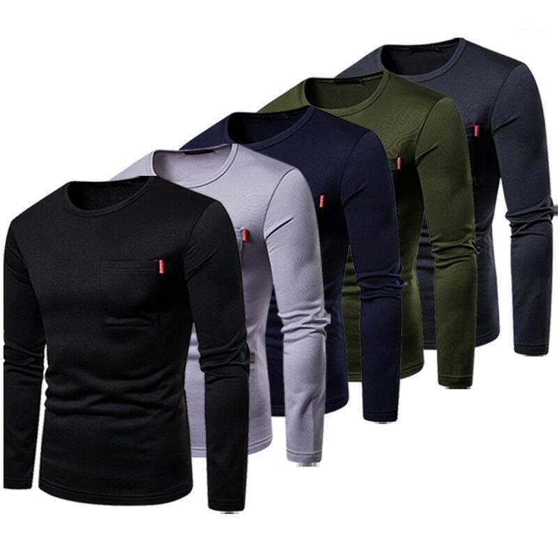 Men's Sweaters Cotton Lightweight Crewneck Sweatshirt Autumn Warm Men Long Sleeve Slim Fit Pullover Shirts Basic Tee1