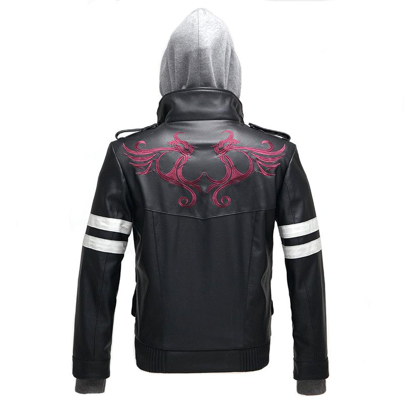 High Quality New Game Prototype Alex Mercer Cosplay Costume Embroidered Jacket PU Leather Coat Carnival Halloween Costumes for Men M-4XL